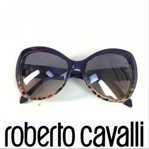 NWOT Roberto Cavalli Purple & Brown Cat Glasses